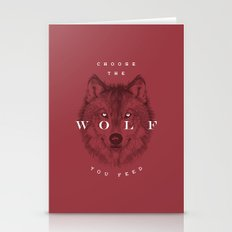 Choose The Wolf You Feed Stationery Cards