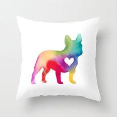 French Bulldog Love Throw Pillow