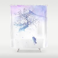 The long way to Fuji Shower Curtain