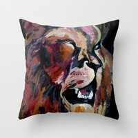 Friendly Lion Throw Pillow