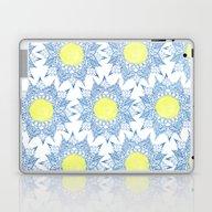 Laptop & iPad Skin featuring Boho Blue Henna Mandala … by Girly Trend