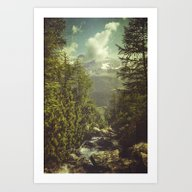 Mountain View - Italian … Art Print