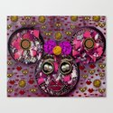 Mouse Girl In Love Canvas Print