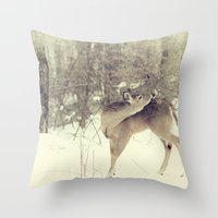 Throw Pillow featuring Looking Back by Karol Livote