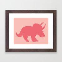 Sarah in Pink Framed Art Print