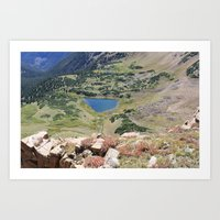 Blue Lake Art Print