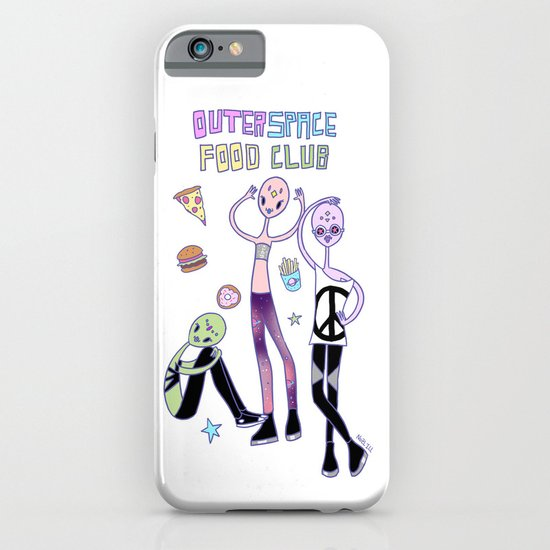 Outer Space Food Club Fashion Aliens iPhone & iPod Case
