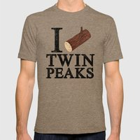 I Love Twin Peaks (Log) Mens Fitted Tee Tri-Coffee SMALL