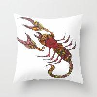 Tatoo Scorpion Throw Pillow