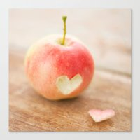 Apple love Canvas Print
