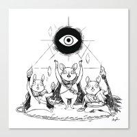Three Blind Mice Canvas Print
