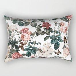 Rectangular Pillow - Floral and Butterflies II - Burcu Korkmazyurek