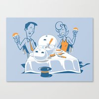 Neighbors Ate My Snowman Canvas Print