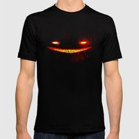 Smile (Red) Mens Fitted Tee Black SMALL