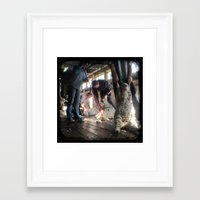 The Shearer and The Rouseabout - Through The Viewfinder (TTV) Framed Art Print