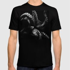 Octopus Mens Fitted Tee Black SMALL