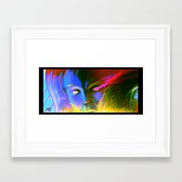 A face Framed Art Print