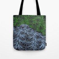 Light Green And Gray Dro… Tote Bag