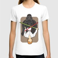 Darth Vader And Luke Womens Fitted Tee White SMALL
