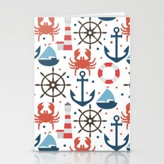 Sea White Pattern Stationery Cards