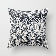 Four sides of a box (iii) Throw Pillow