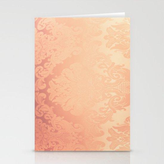 Pink Rose Vintage II Stationery Card