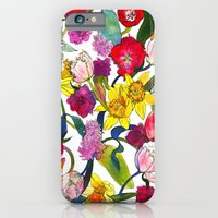 iPhone & iPod Case featuring Tulips & Daffodils  by Marcella Wylie