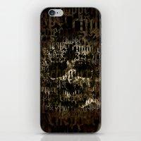 SKULL BIKE iPhone & iPod Skin