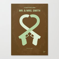 No187 My Mr & Mrs. Smith minimal movie poster Canvas Print