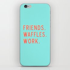 PARKS AND REC FRIENDS WA… iPhone & iPod Skin