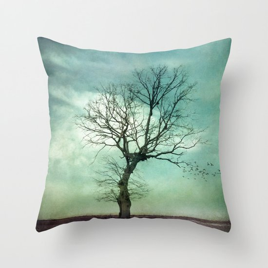 ATMOSPHERIC TREE I Throw Pillow