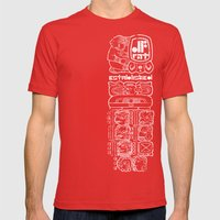 MAYAN GLYPH Mens Fitted Tee Red SMALL