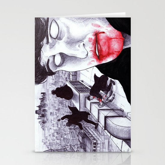 """""""Modern Vampires of the City"""" by Cap Blackard Stationery Card"""