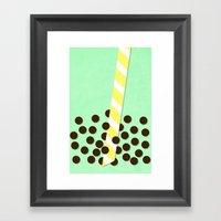 Avocado Smoothie W/ Boba Framed Art Print