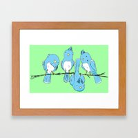 dem birds Framed Art Print