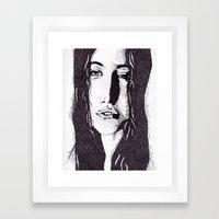 ??? Girl Framed Art Print