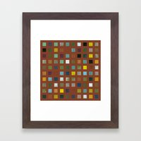 Rustic Wooden Abstract Vll Framed Art Print