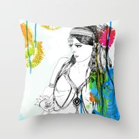 Tribal Beauty 6 Throw Pillow