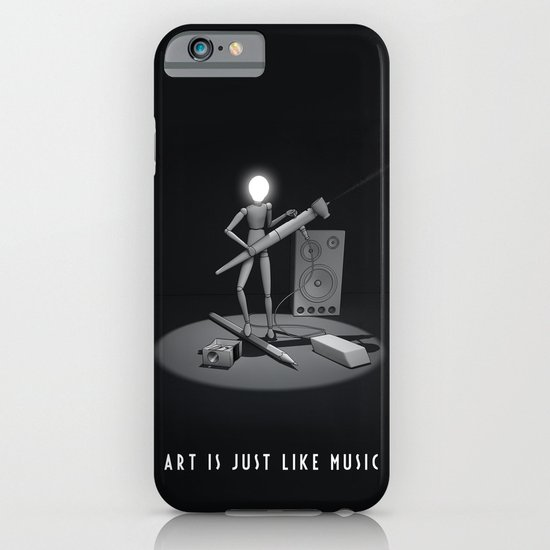 art is just like music iPhone & iPod Case