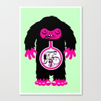 Yeti stomach contents Canvas Print