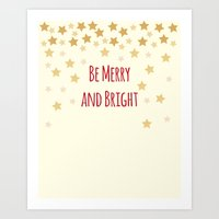 Be Merry and Bright Art Print