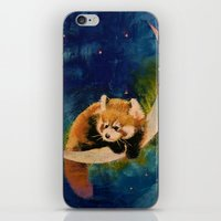 Red Panda Moon iPhone & iPod Skin