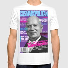 COSMARXPOLITAN, Issue 14 White Mens Fitted Tee SMALL