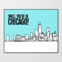 Smile Chicago Canvas Print