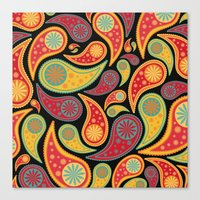 Bohemian Paisley  Canvas Print