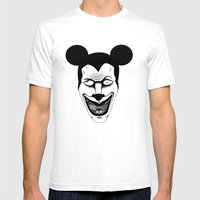 Maniac Mickey Mens Fitted Tee White SMALL
