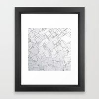 Plan Abstract Framed Art Print
