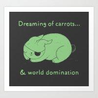 Dreaming Of Carrots Art Print