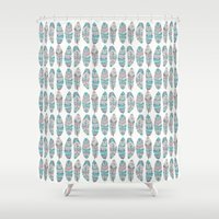 Feathers of Nature Shower Curtain