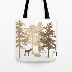 Morning Deer In The Woods No. 2 Tote Bag